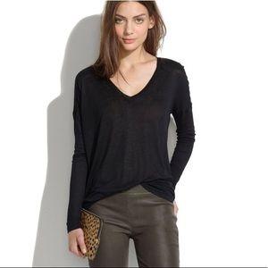 Madewell V neck long sleeve Shirts Size Medium